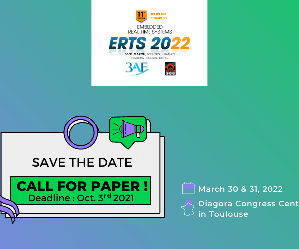 ERTS 2022 Congress- Call for Paper !