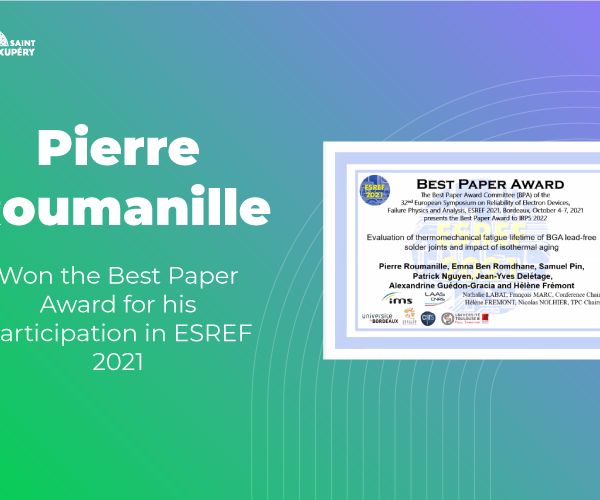 Pierre Roumanille won the Best Paper Award for his participation in ESREF 2021